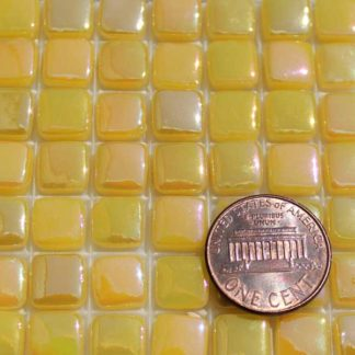 Cad-Yellow-Deep-E030IRI Glass Mosaic Tiles
