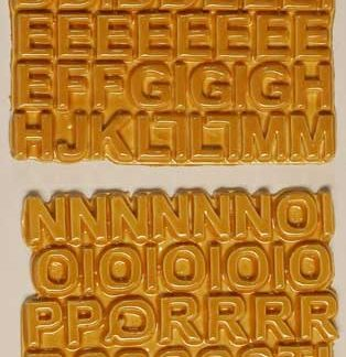 Dark Goldenrod L-58A-60 ceramic letter tiles