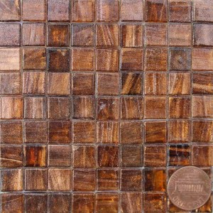 Amber 10MS24 metallic glass mosaic tiles