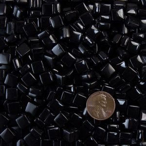 Black MMT8B009 recycled glass mosaic tile Morjo brand