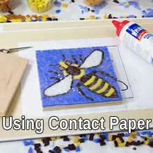 Using contact paper for mosaic